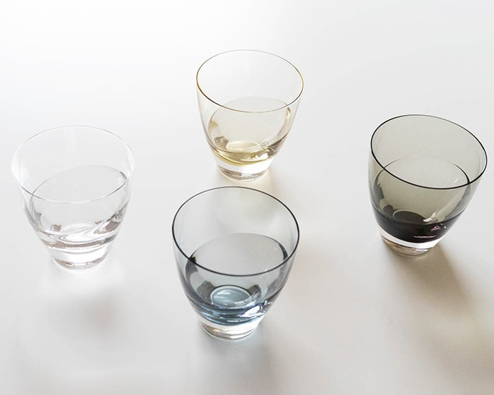 4 colors of cascade glass from Sugahara