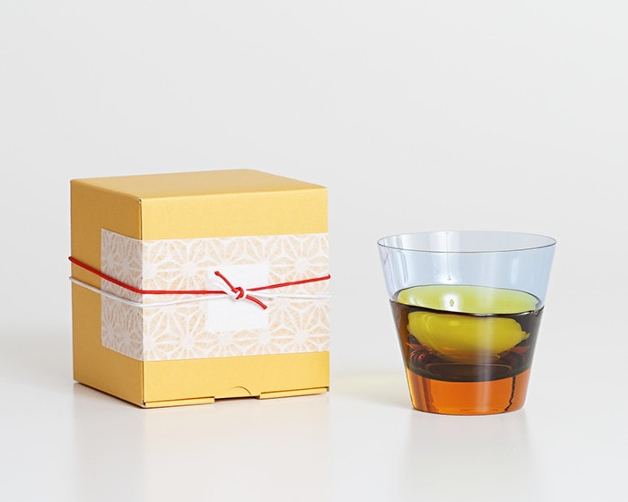 Old fashioned glass duo and its exclusive box with Easy wrapping