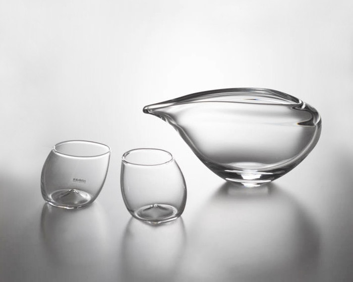 Sake glass set of 1 riv and 2 guinomi from Sghr