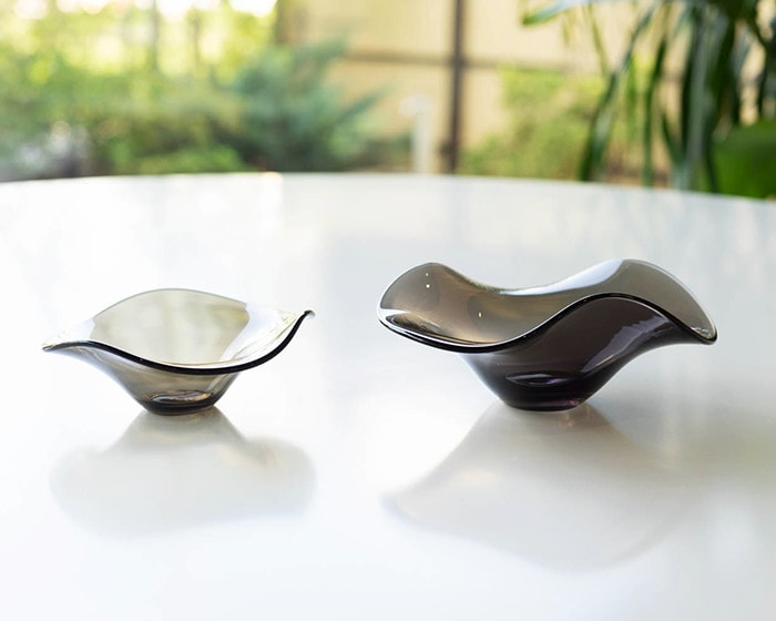 Comparison sizes of glass bowl kana from Sugahara