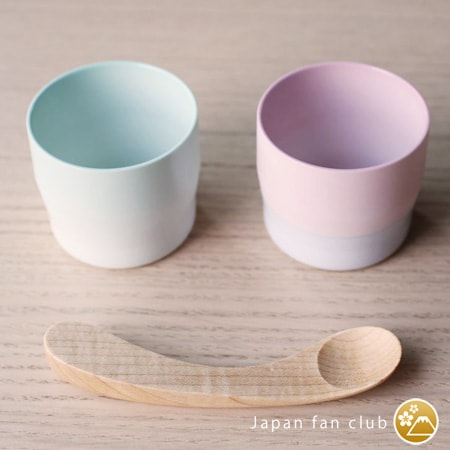 "Wooden baby spoon ""Maple"" and espresso cup of 1616 arita japan"