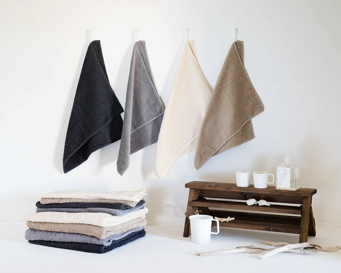 Organic towels from SyuRo with mugs