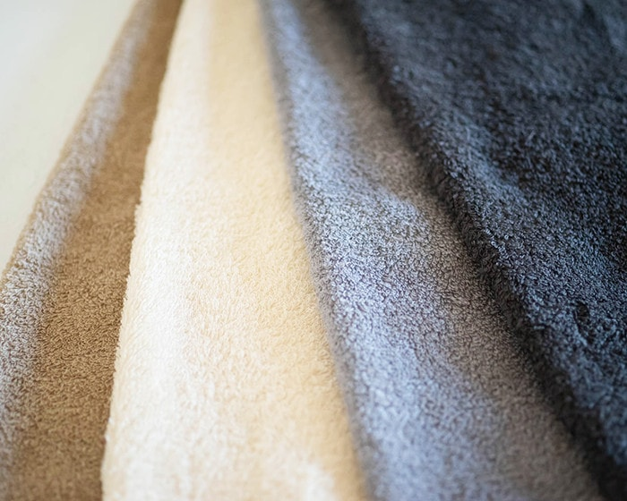 4 colors of organic cotton towels of SyuRo