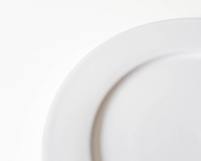 Image of white color of stoneware plate
