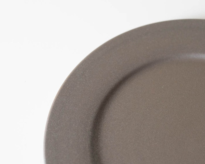 Image of gray color of stoneware plate