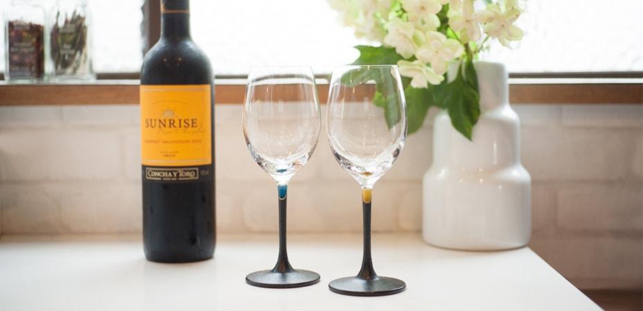 おしゃれな鳥羽漆芸のワイングラス