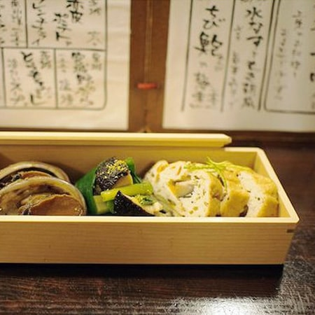 Traditional bento box as tableware