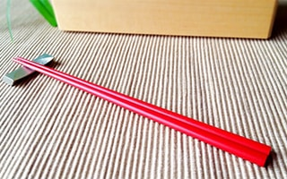 Special chopsticks from Wajima Kirimoto