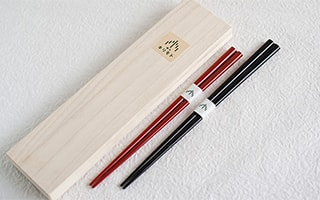 High-quality lacquered chopsticks of Wajima lacquerware