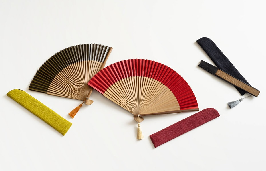 Elegant traditional Japanese fan from WDH