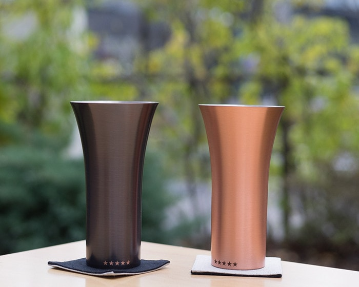 Brown and Mat pure copper tumblers of WDH