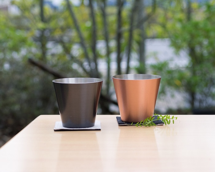 Brown and Mat pure copper drinking cups of WDH