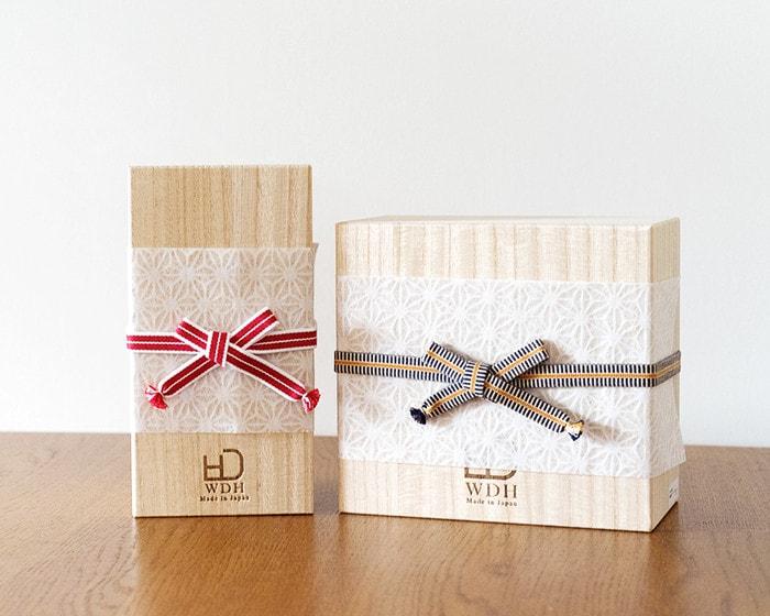 WDH純銅製タンブラー・カップ桐箱の日本デザインストア無料ラッピングイメージ