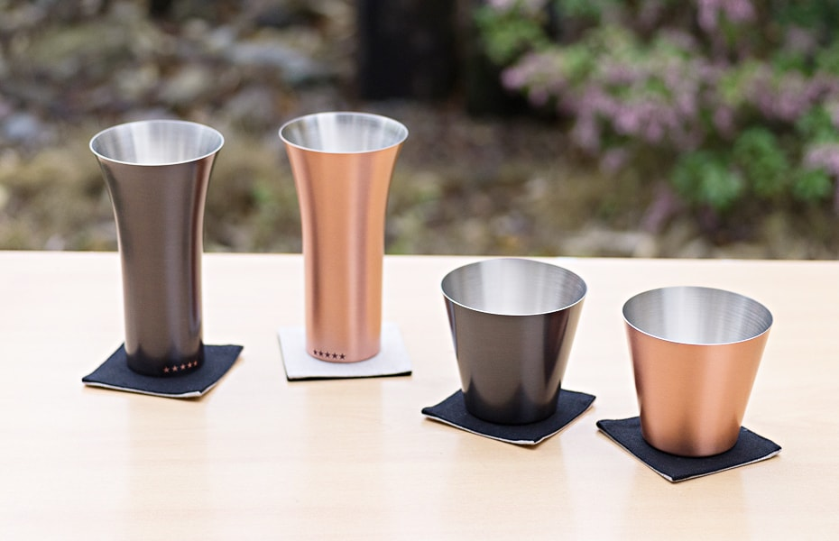 Pure copper tumblers and drinking cups of WDH