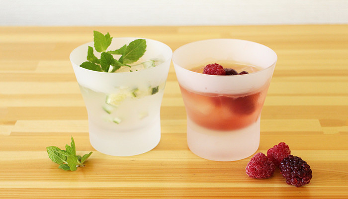 Enjoy various drink with frosted old fashioned glass