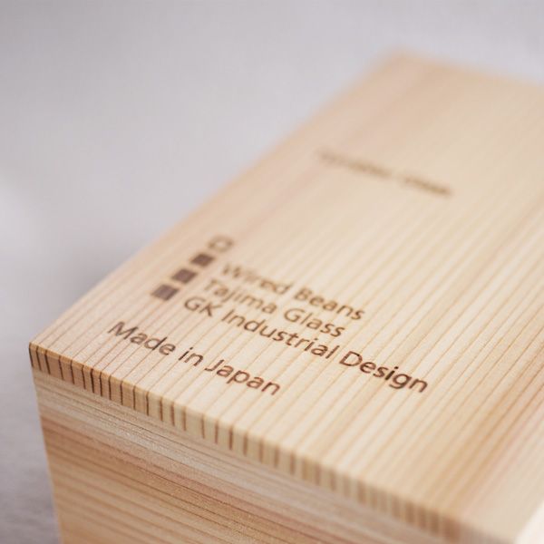 Wooden airtight box is made of Japanese cedar tree