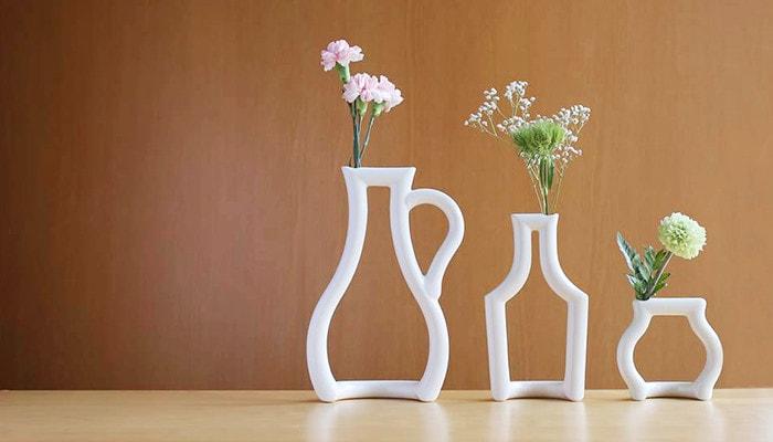 Small vases still green from ceramic japan