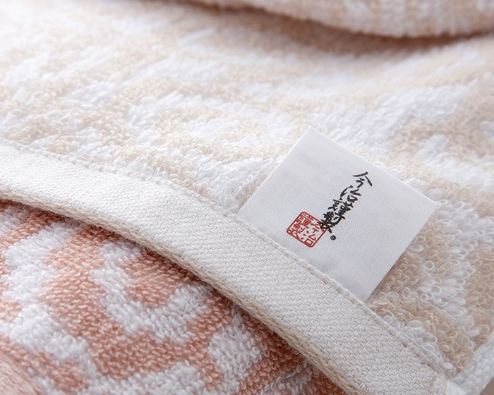 Label of Imabari Kinsei on Mon-Ori towel