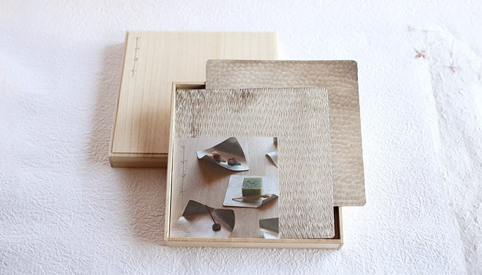 Suzugami 18cm x 2 set within Paulownia box
