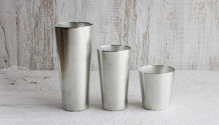 Tin tumbler and beer cups of Nousaku