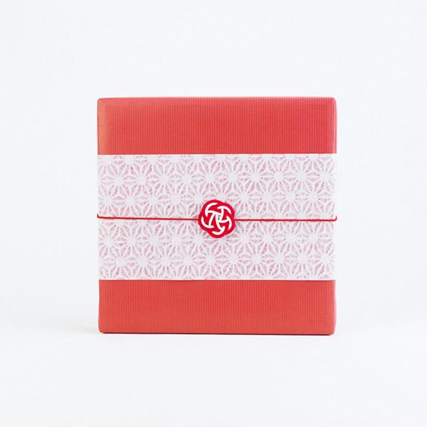 和紙掛紙と梅水引(包装紙あり)のイメージサンプル
