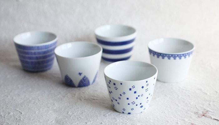 Inban-Soba choko cups from Azmaya