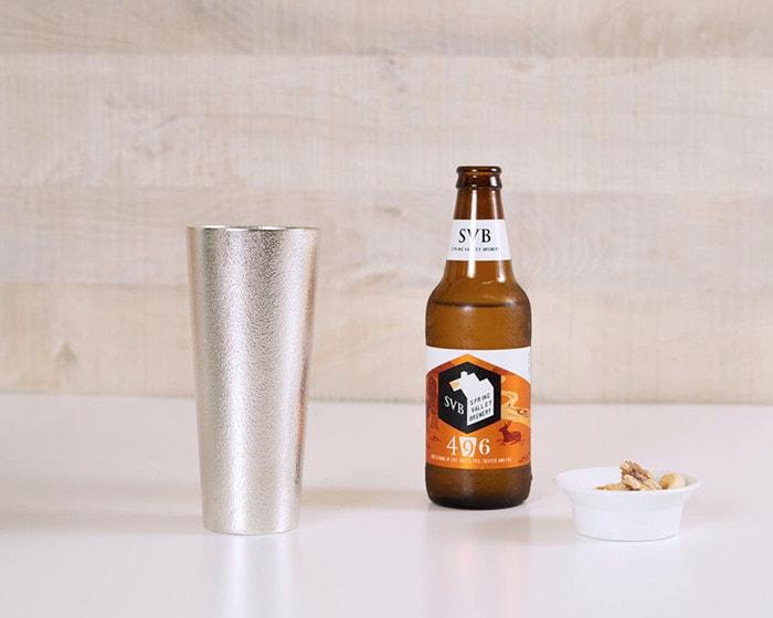 能作のビアカップLとクラフトビール