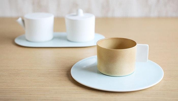 Light brown coffee cup & saucer from 1616/arita japan