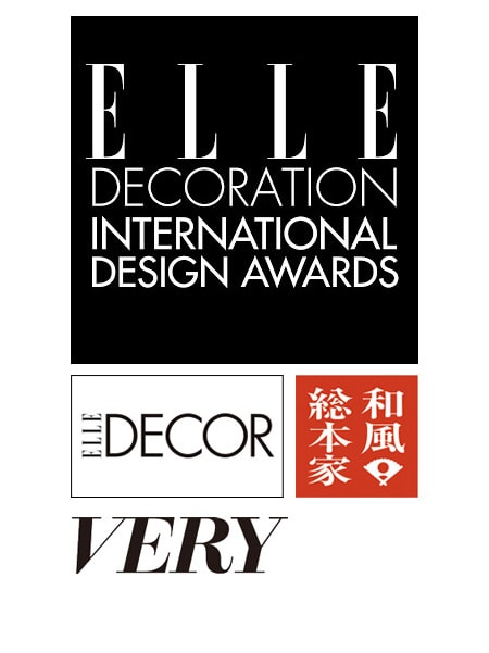 "logos of ELLE DÉCOR, ""Wafu Souhonke"", Magazine ""VERY"""