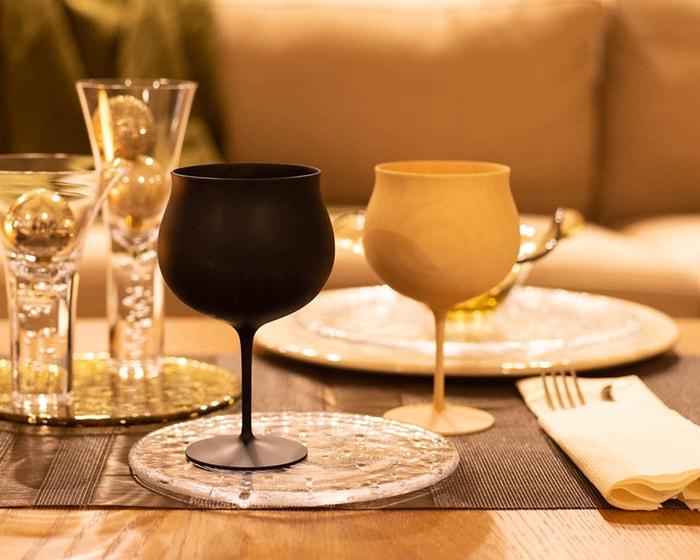 我戸幹男商店の木製ワイングラス
