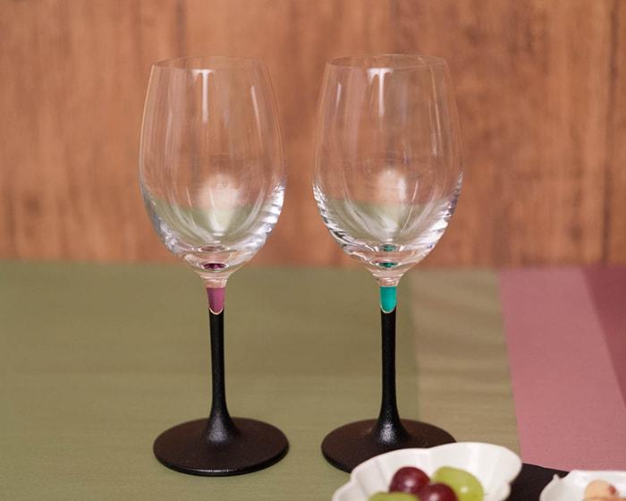 鳥羽漆芸の漆塗りワイングラス