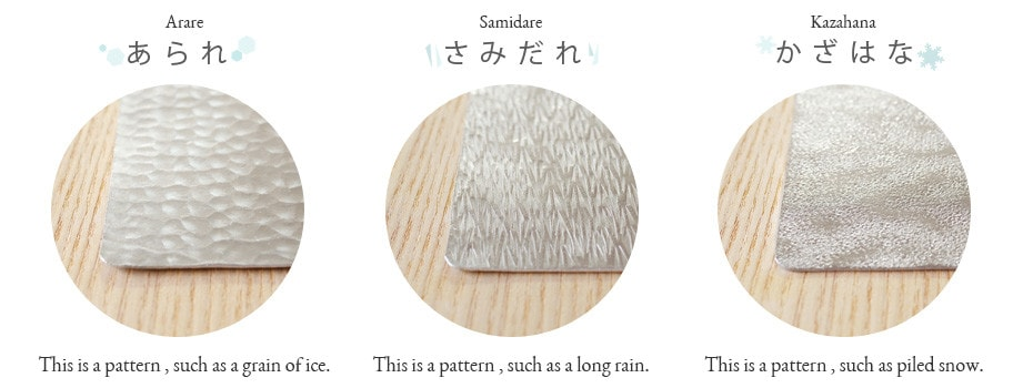 Pattern List of Suzugami