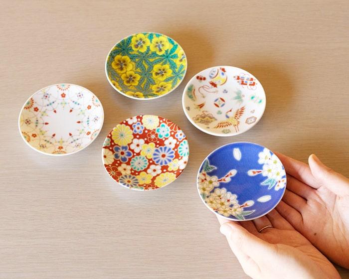 青郊窯吉祥シリーズの5種類の小皿