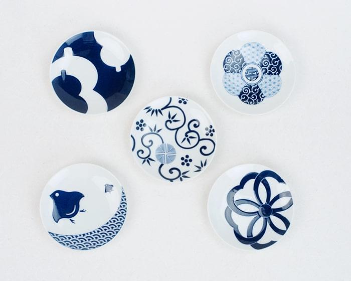 KIHARAKOMONの吉祥紋シリーズ豆皿5種