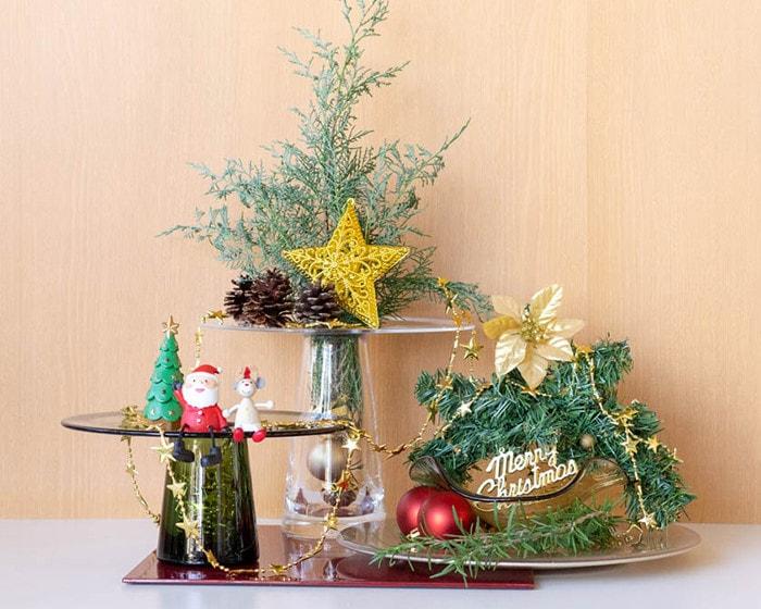 スガハラのガラス食器で飾るクリスマスディスプレイ