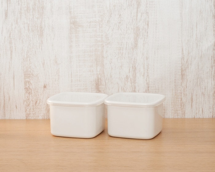 Enamel preservation container Square from Noda Horo