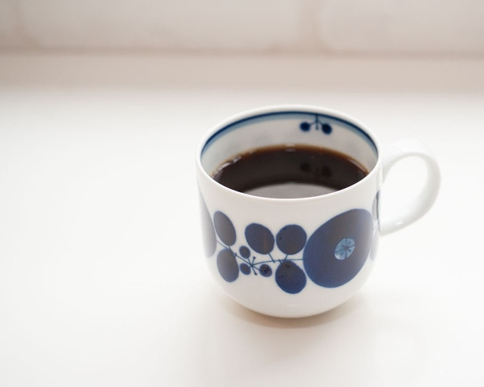Coffee in cup of Bloom series from Hakusan Toki