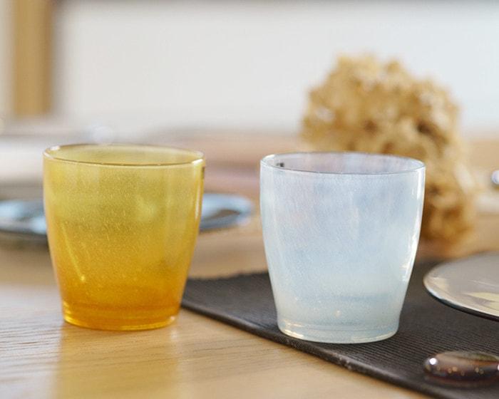 食卓に並んだfresco solitoグラス