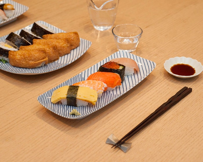 Sushi on Kasane-jima plates