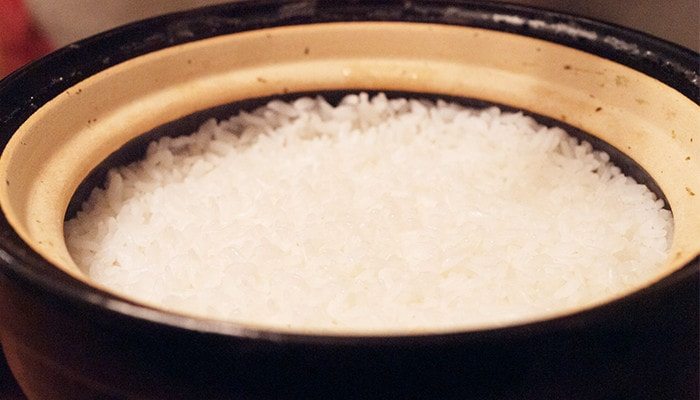 Cooked white rice by Kamado-san