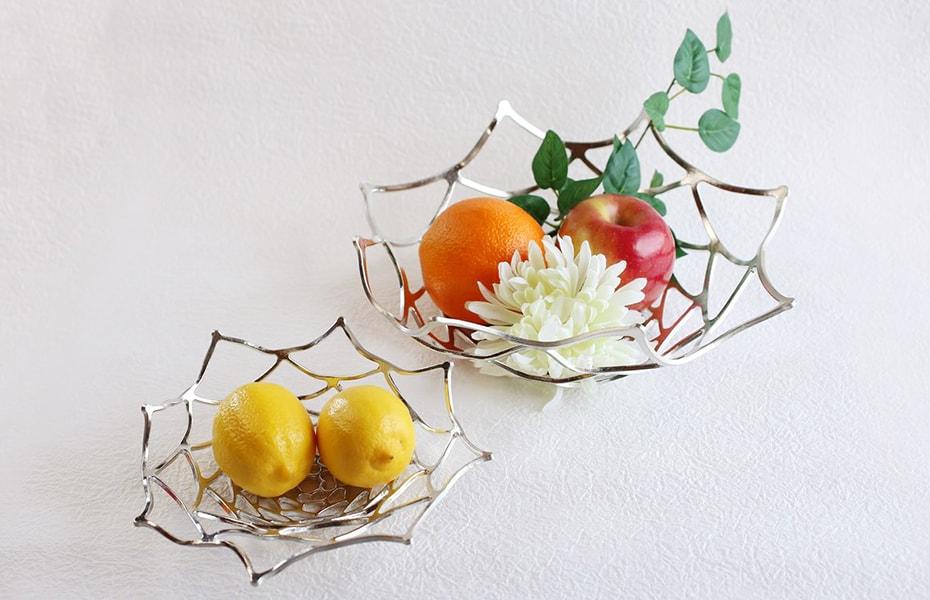 Metal fruit bowl KAGO from Nousaku