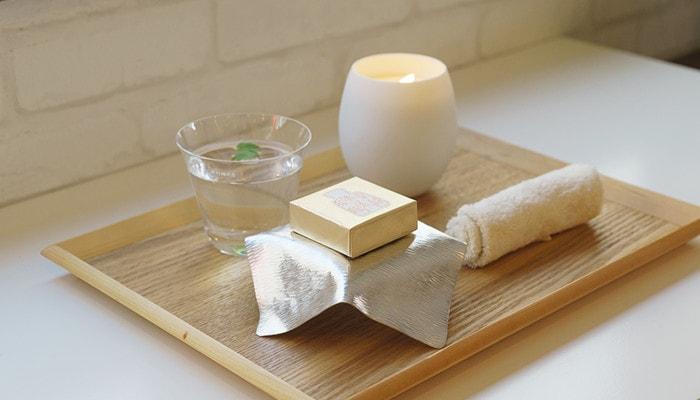 すずがみを石鹸置きとして使用した例