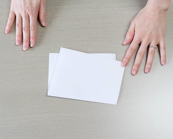 懐紙の慶事用の折り方