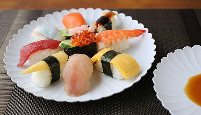Sushi on Palace plate