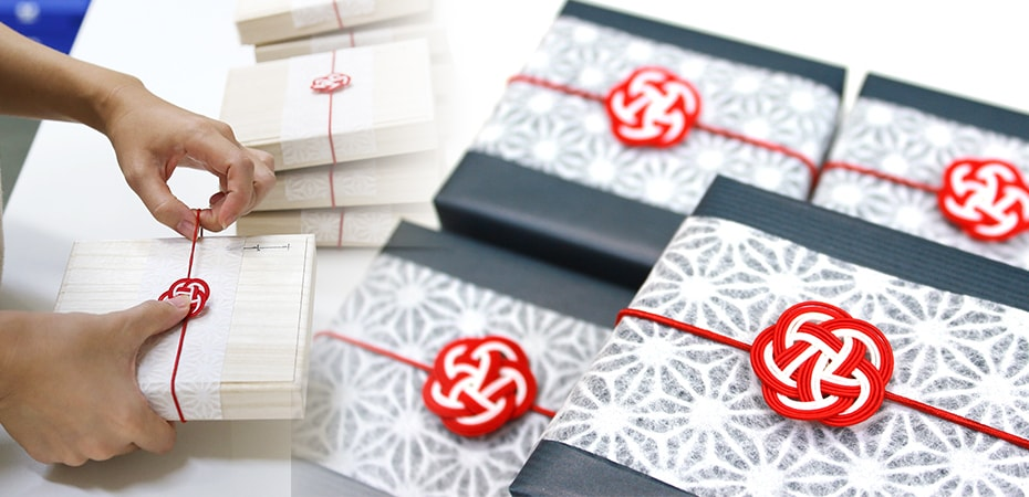 Images of Japanese gift wrapping