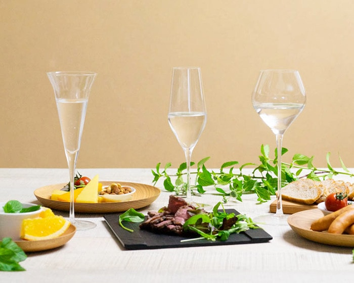 3 types of sake glasses from Wired Beans