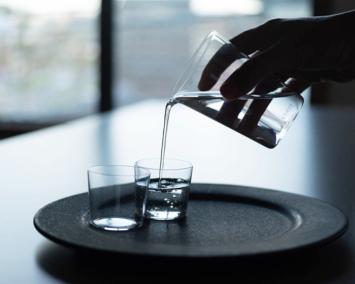 Simple sake glass set Carta from Kimura glass