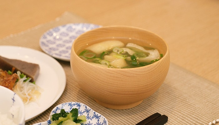 Miso soup in Meibokuwan from Sonobe