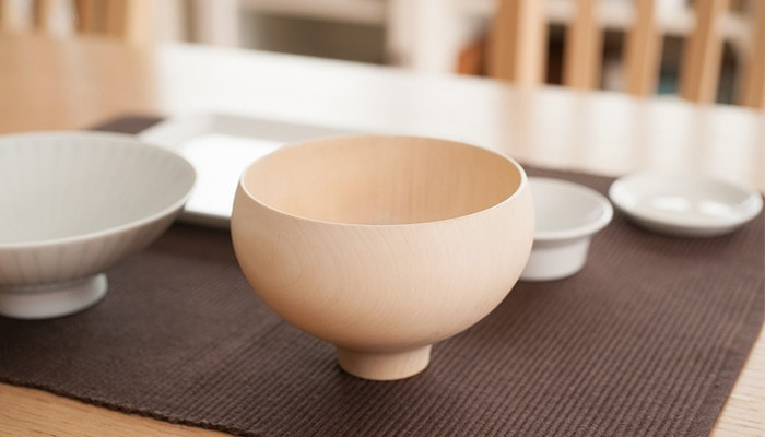 Wooden soup bowl AEKA from Gato Mikio Store