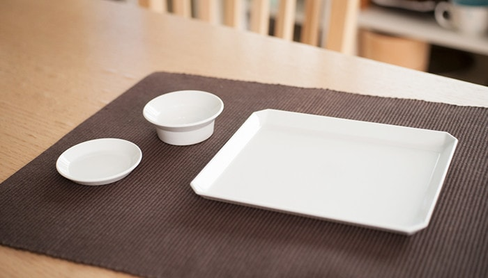 TY Square plate, TY Round plate, and TY Round Deep plate